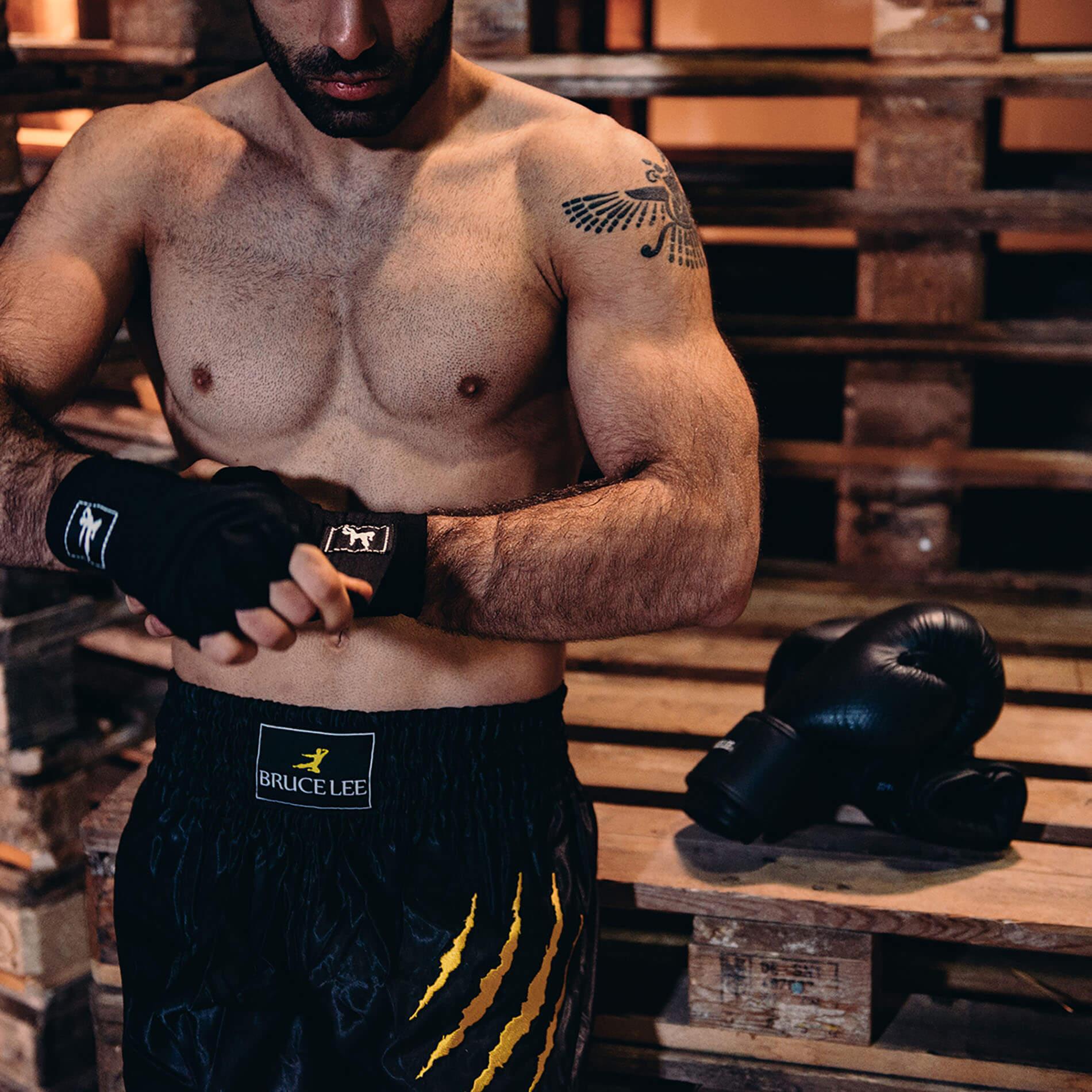 Boxing Wraps 250 cm, Pair (Multiple colors) - Black