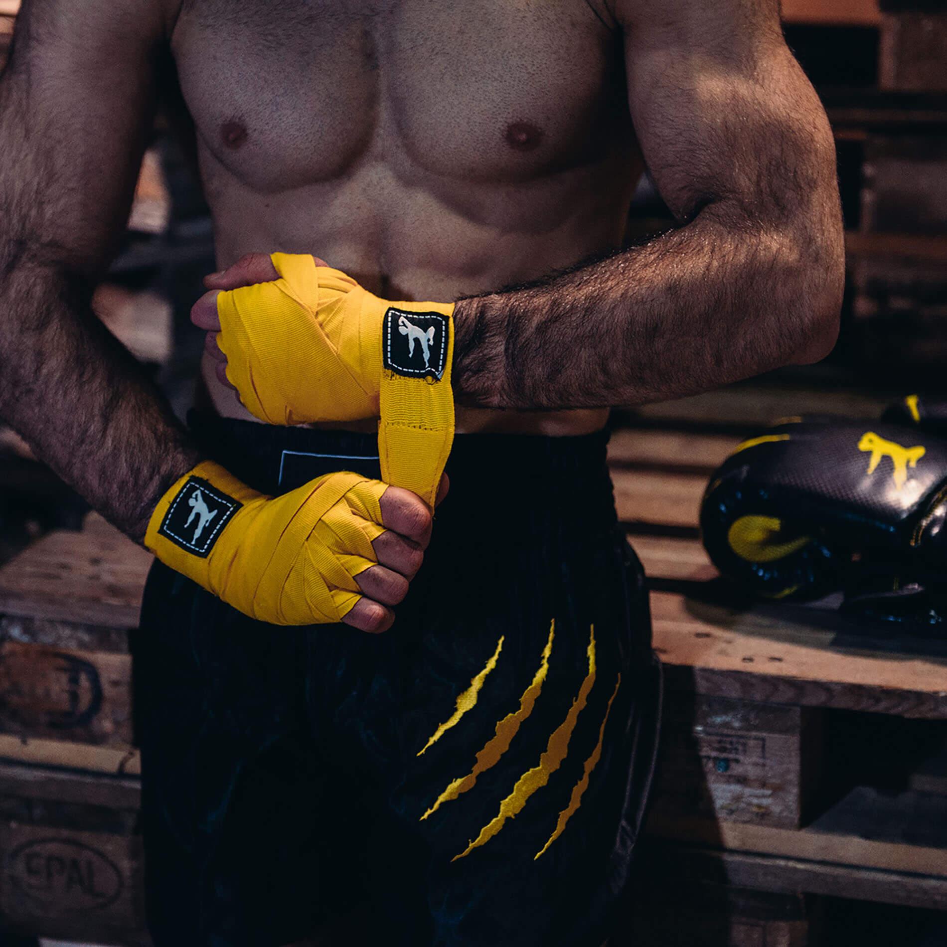 Boxing Wraps 250 cm, Pair (Multiple colors) - Yellow