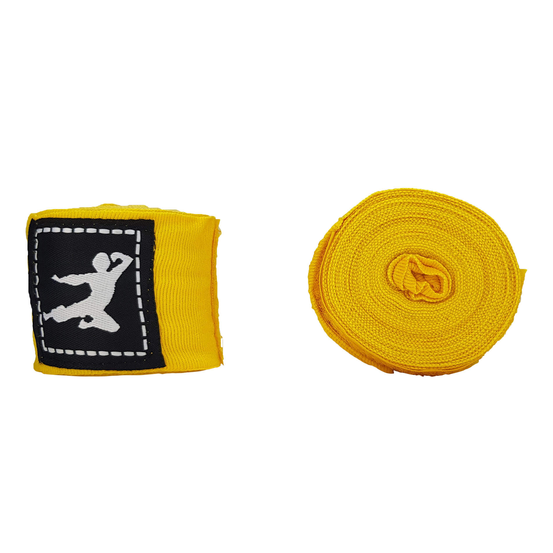 Boxing Wraps 450cm, Pair - Yellow