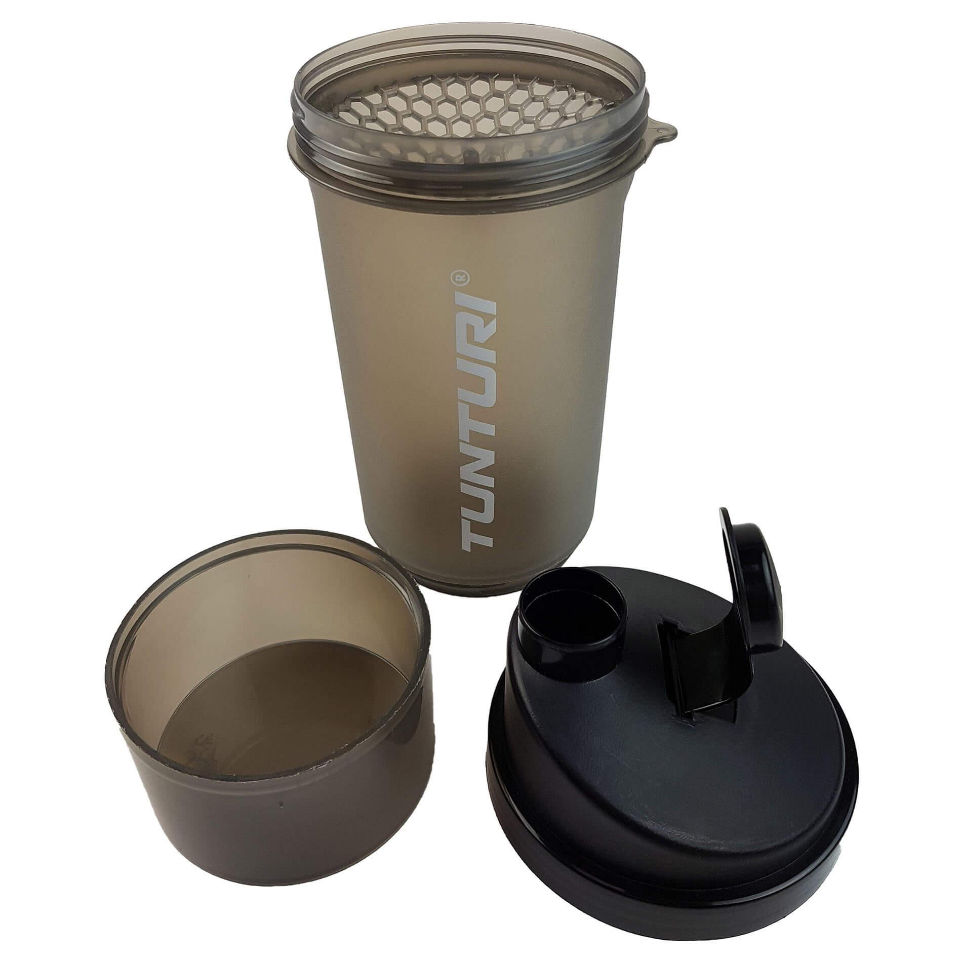Protein Shaker - Shakebeker met zeef en opslag c.q. Bewaarcompartiment - 600ml