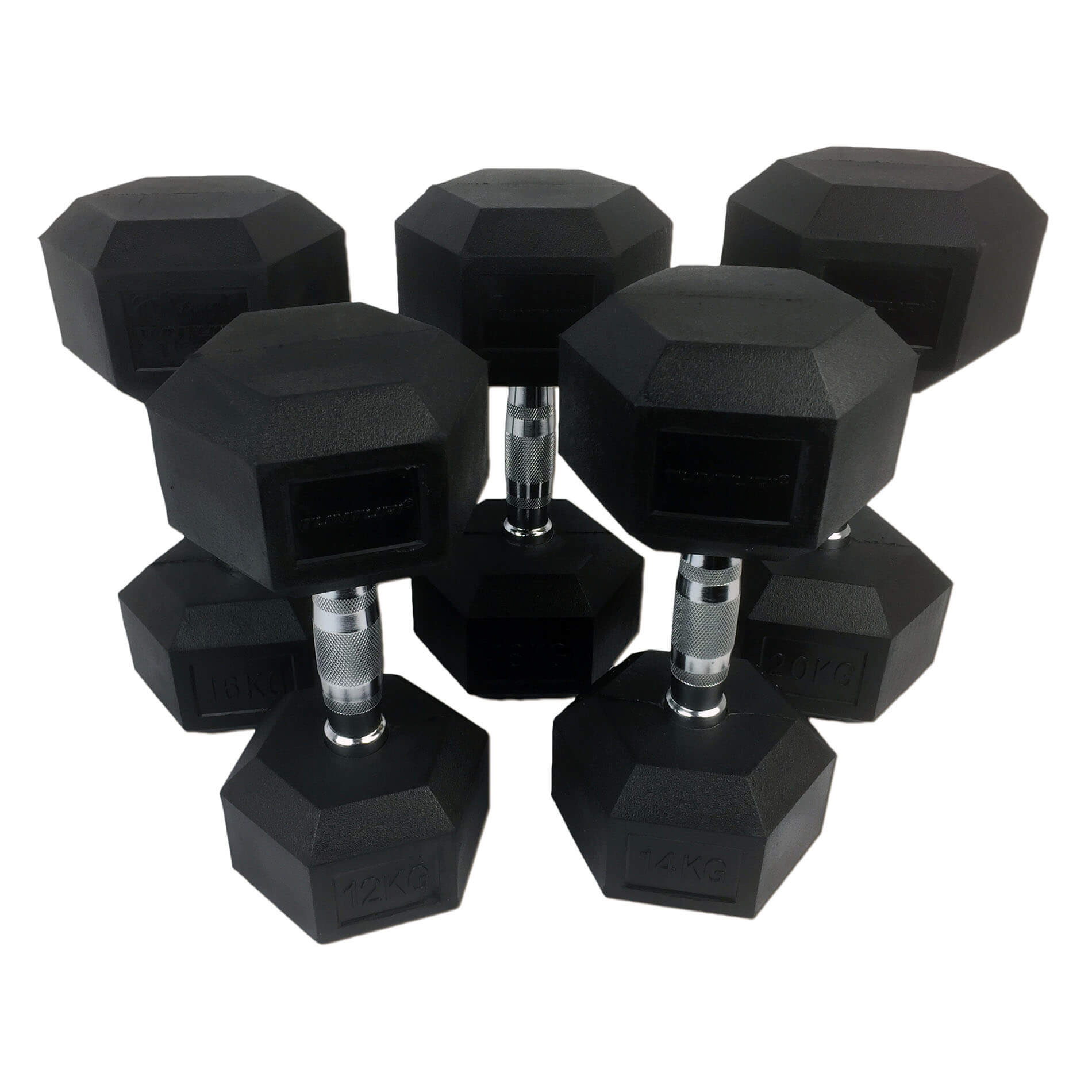 Rubber Dumbbells Set