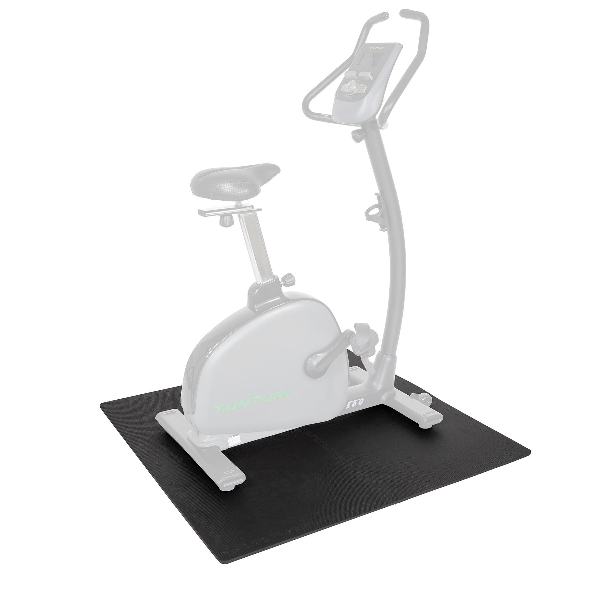 Vloerbeschermmatten set - 60 x 60 x 1,1 cm - 4st - Zwart