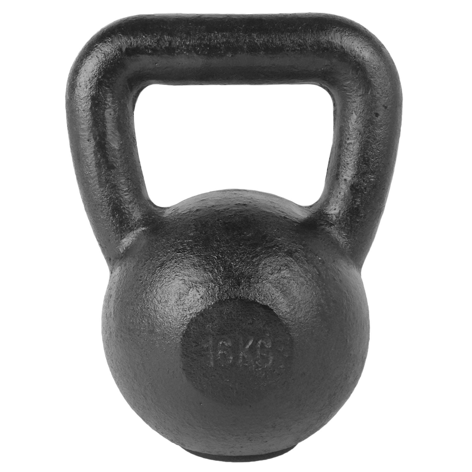 Kettlebell - Zwart 16 kg