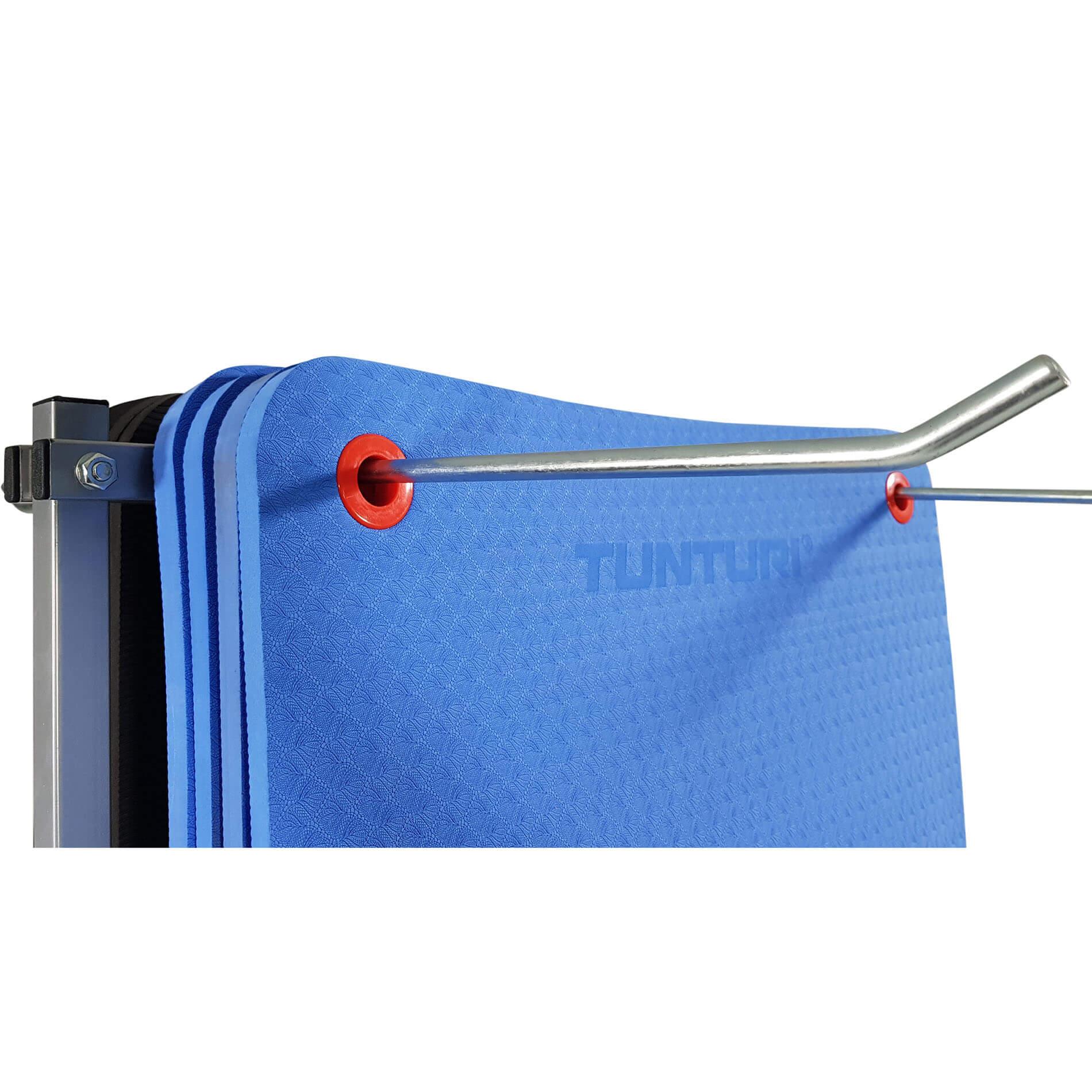 Fitnessmatten Transportkar - Opberghangrek - 190 x 80 x 60 cm - Grijs