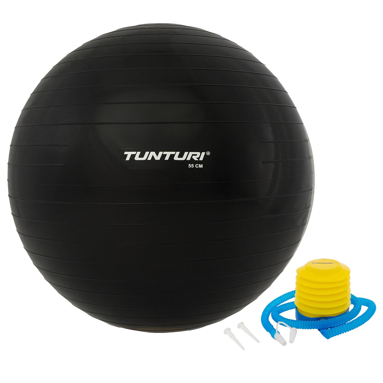 Fitnessbal - Inclusief pomp - Zwart