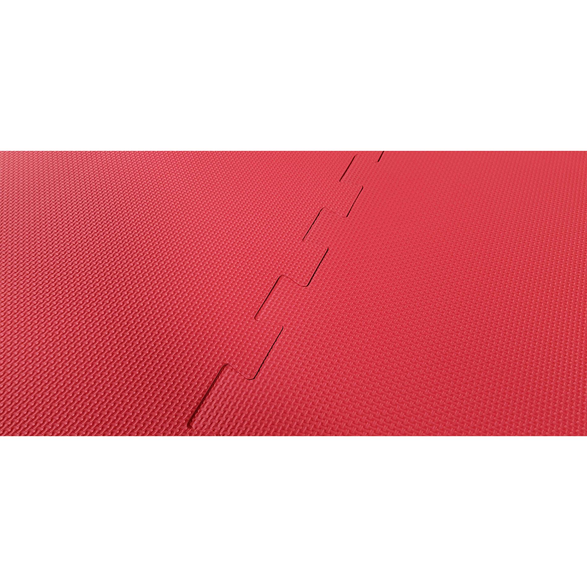 Puzzelmat - Sportvloer - Rood/Zwart
