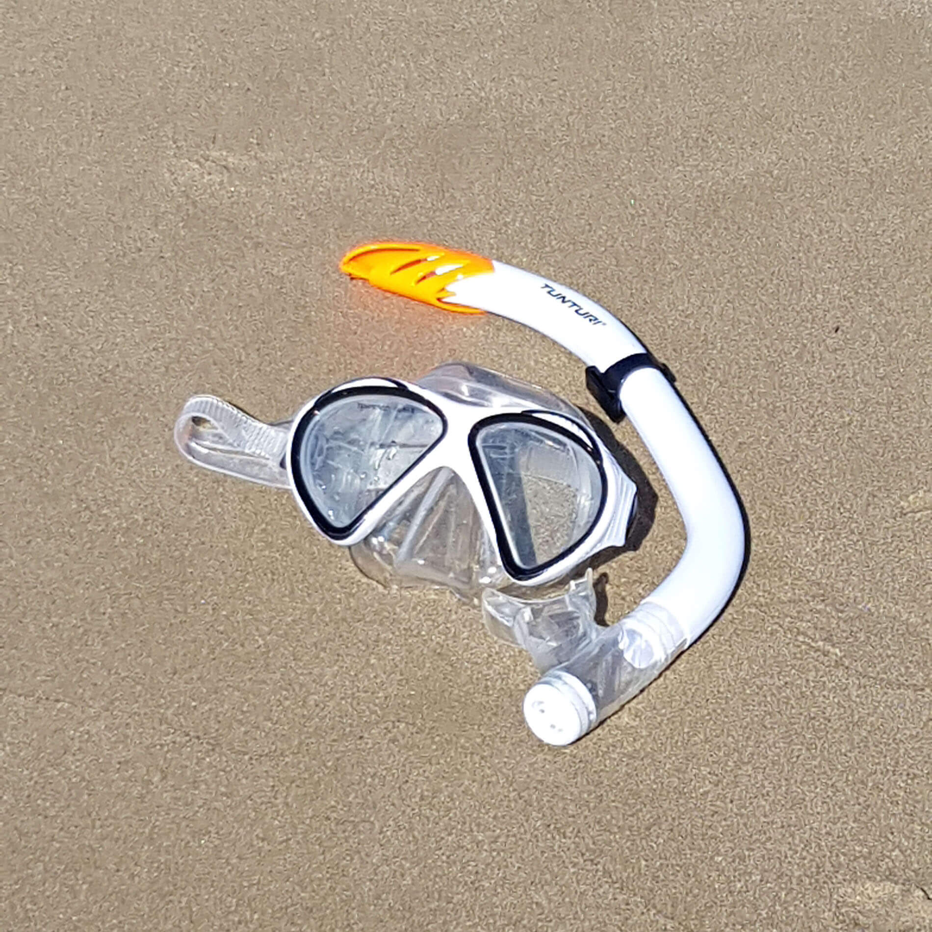 Snorkel Set Senior Siliter Black/White
