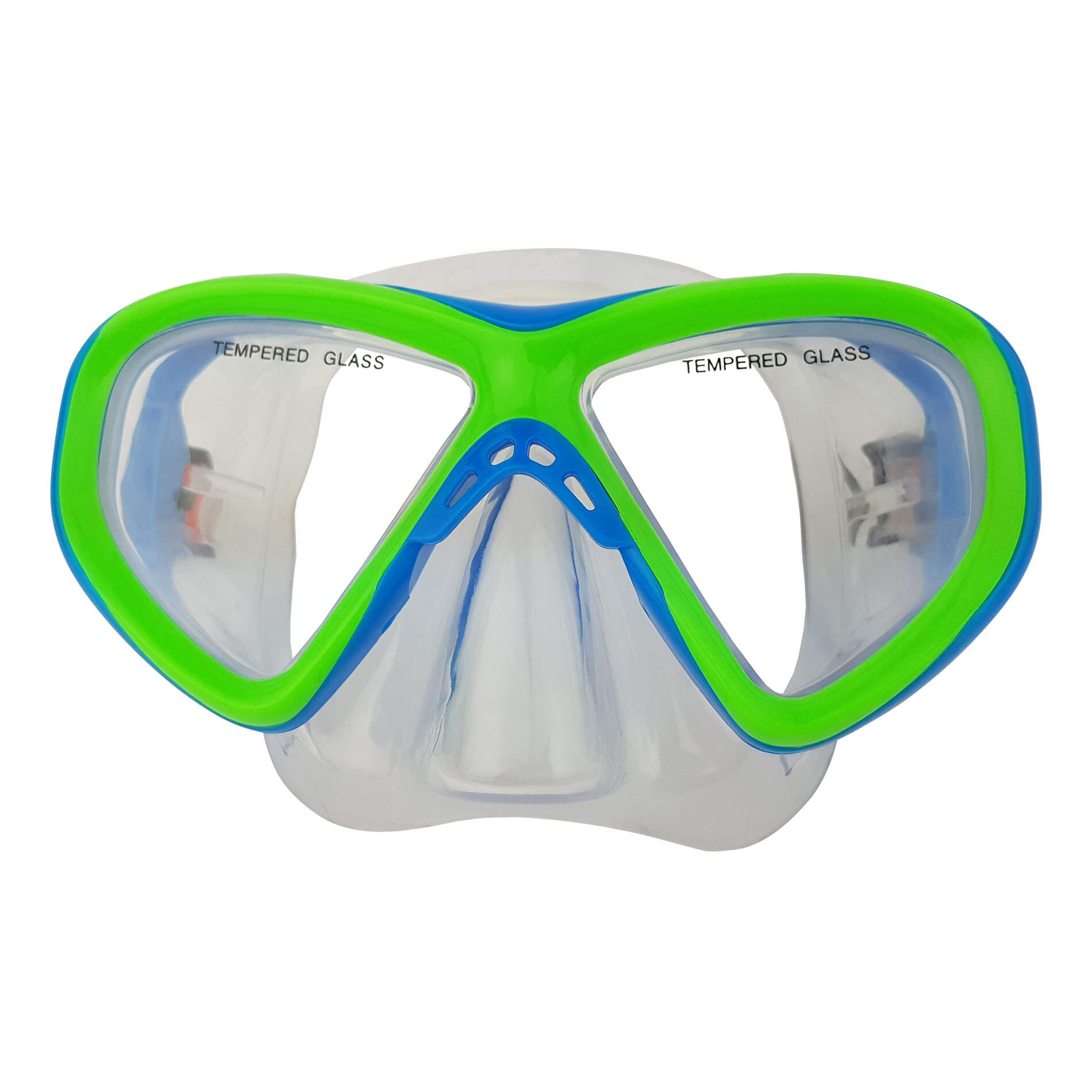 Snorkel Set Junior Siliter Blue/Green