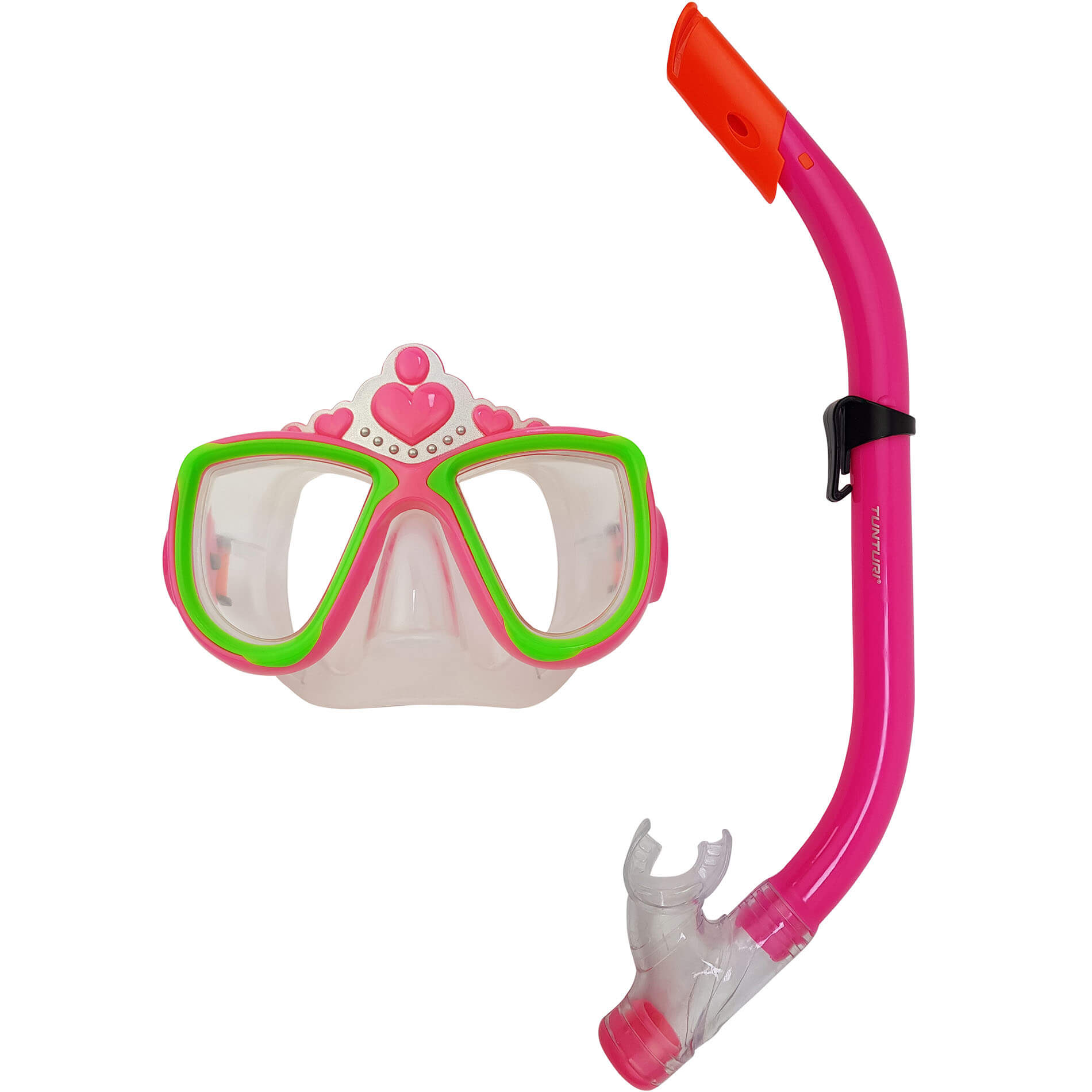 "Snorkel Set (JR) ""Love'' Pink"