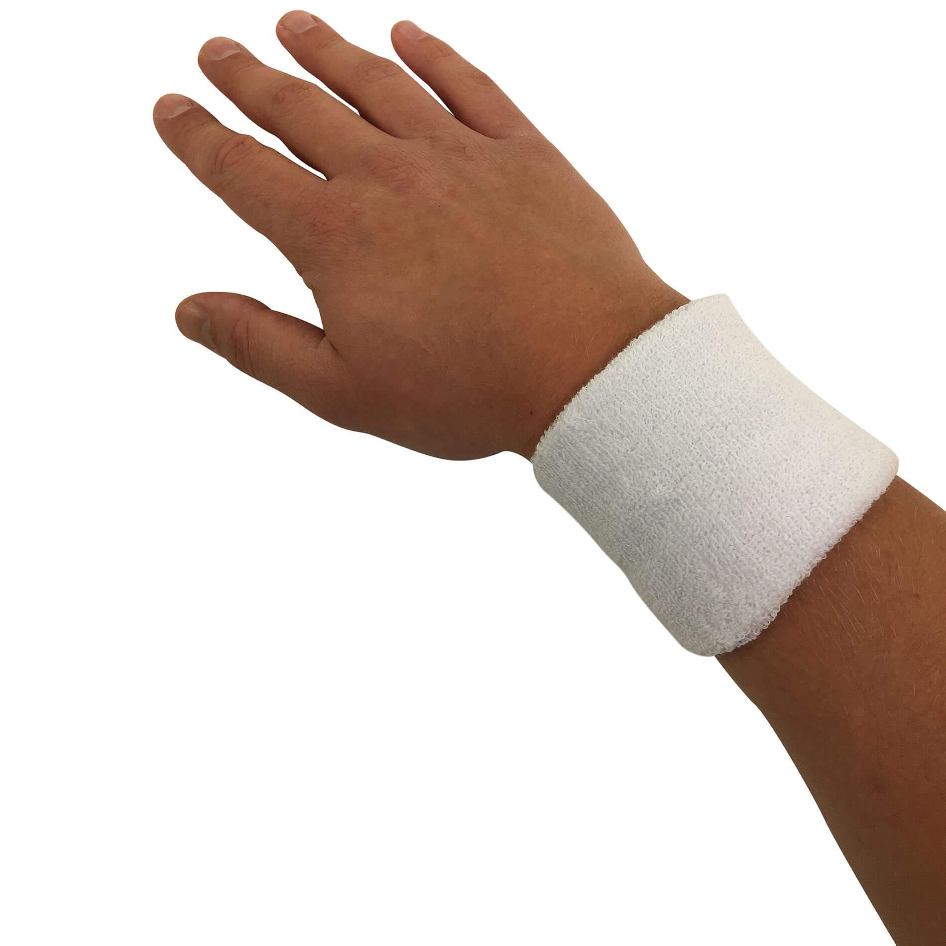 Wristband Set, Pair (White - Black)