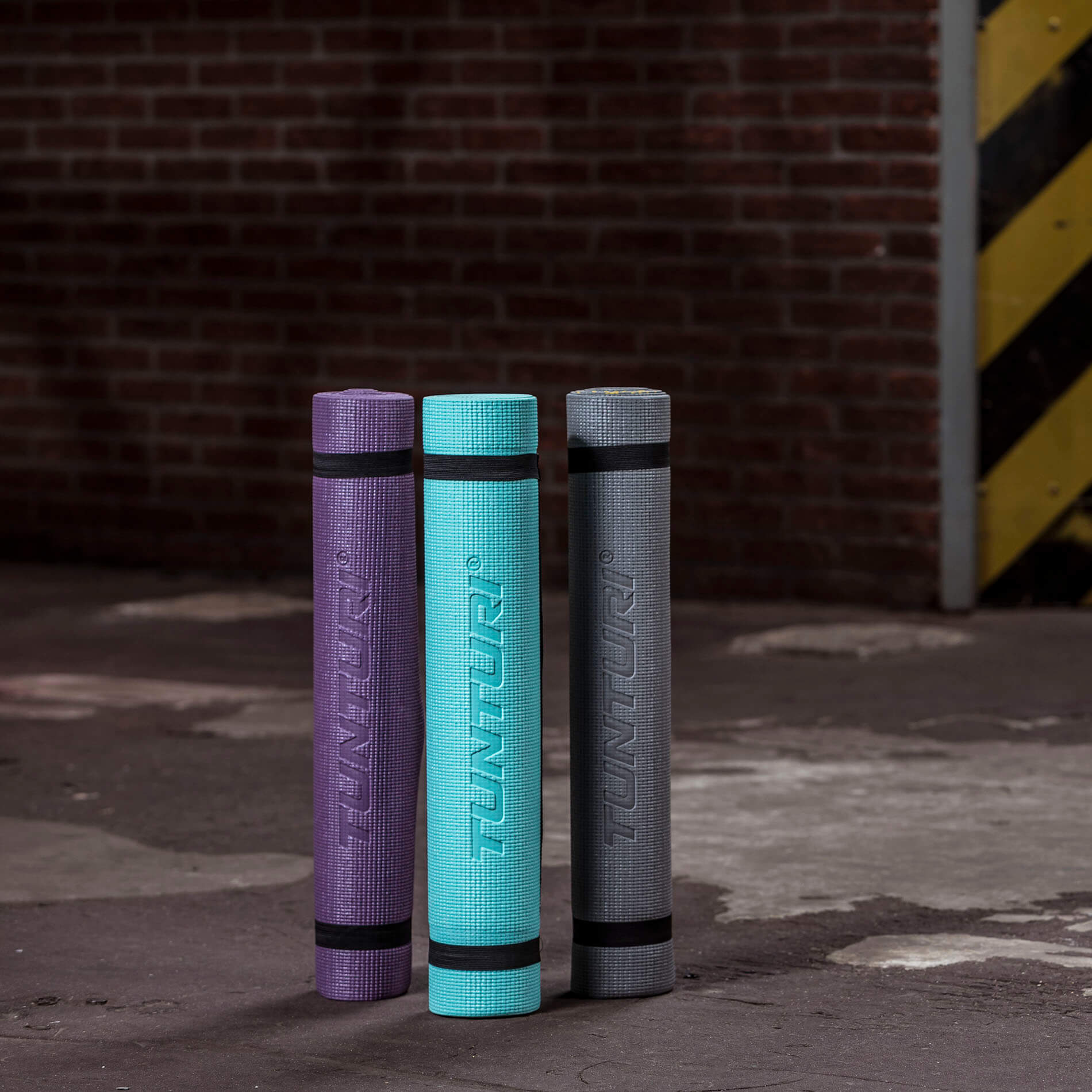 PVC Yogamat - Fitnessmat 4mm dik - Antraciet