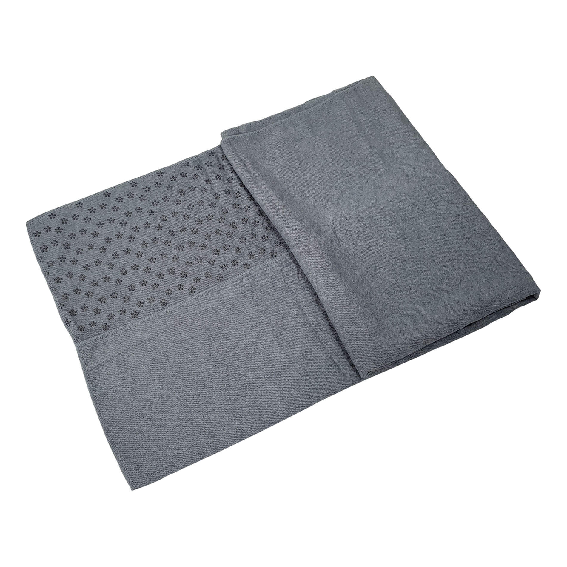Yoga Towel 180-63 cm With Carry Bag - Grey