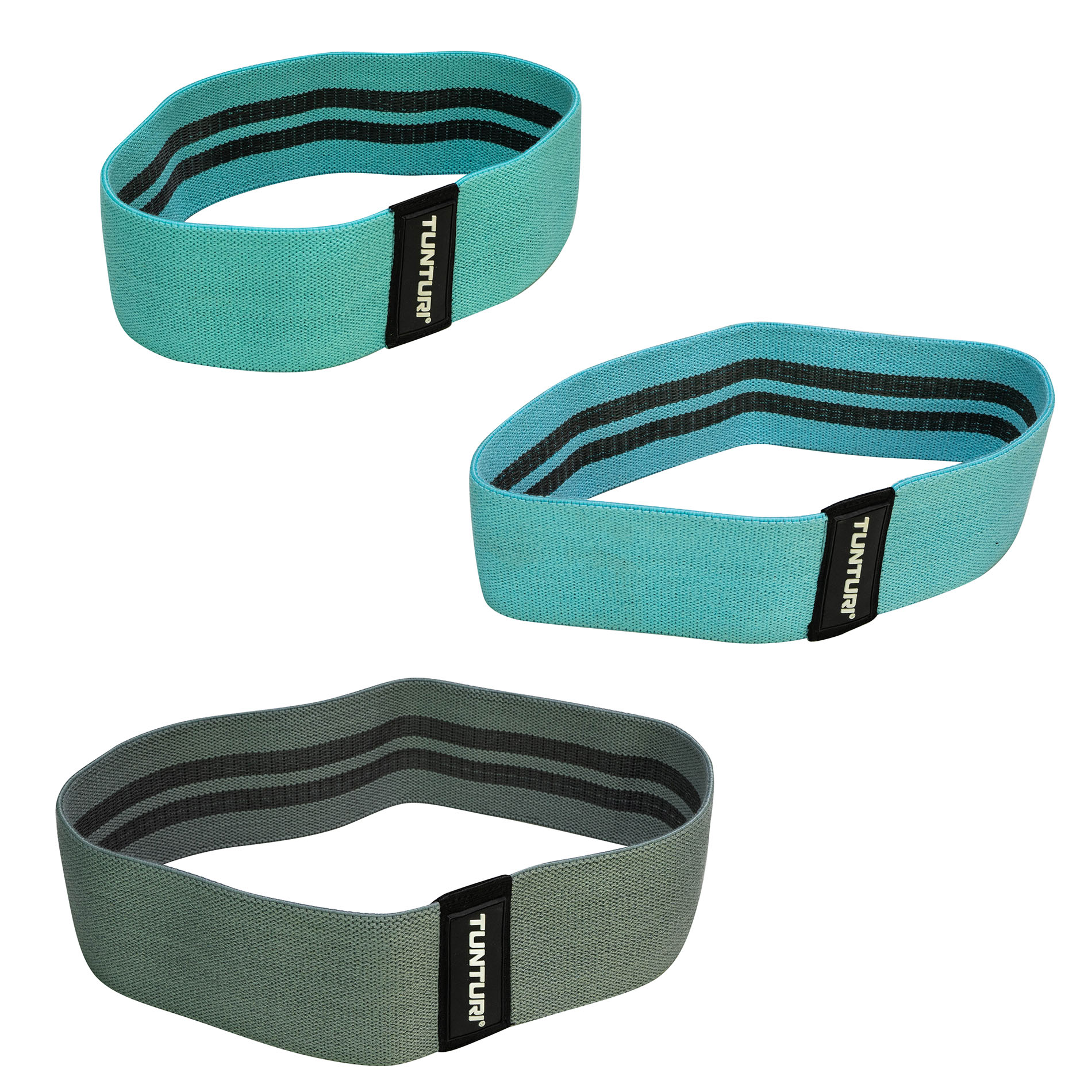 Weerstandsbanden set textiel - resistance band set - 3 st